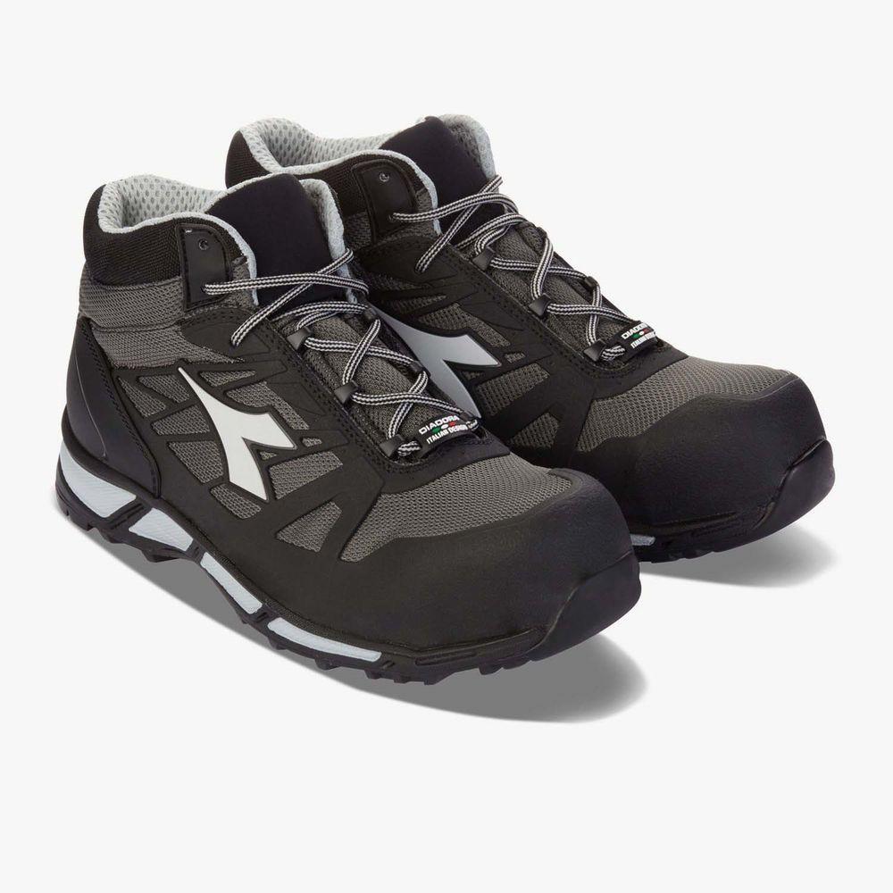 Chaussures de sécurité hautes Diadora D-TRAIL HIGH S3 SRA HRO 100% sans métal - Gris
