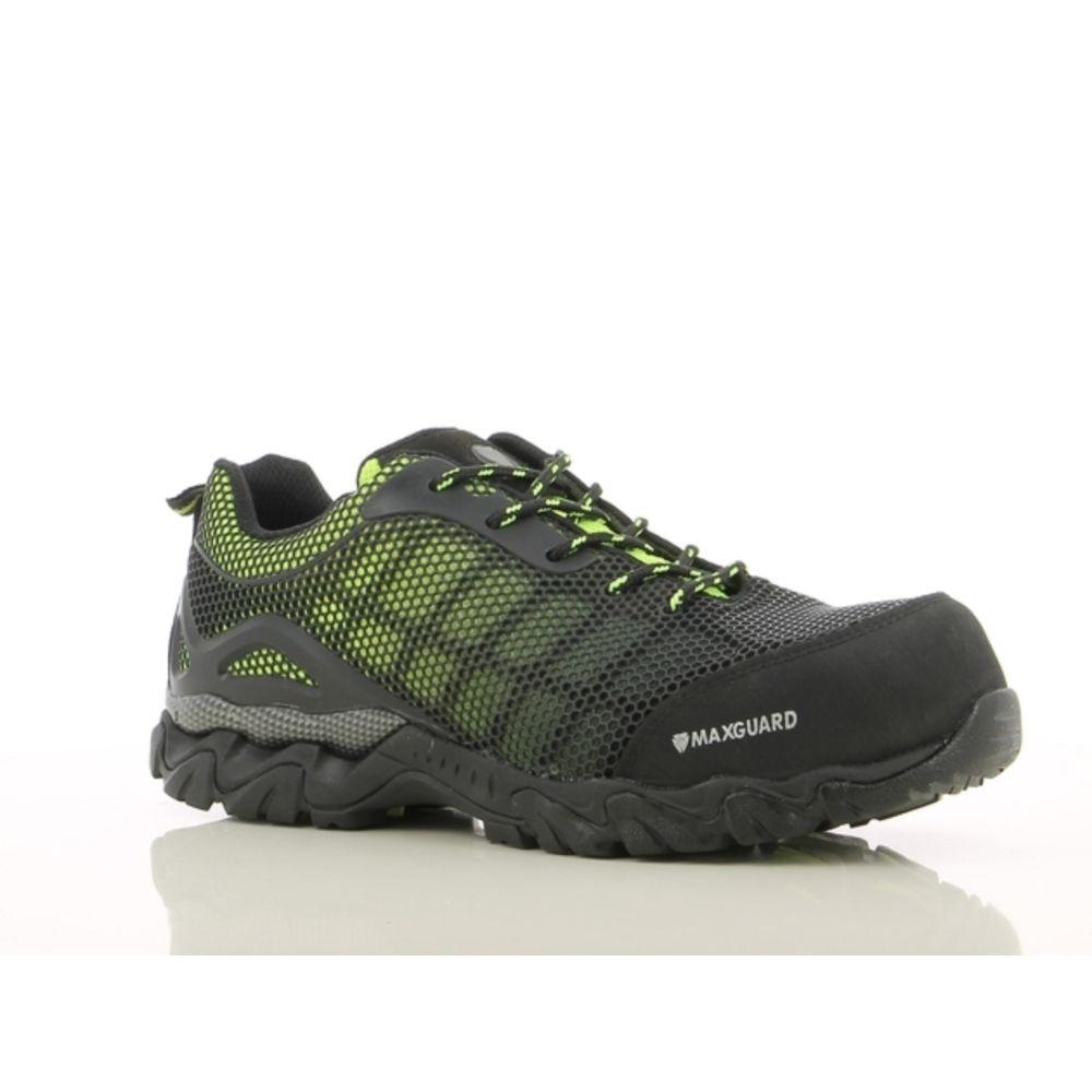 Chaussures de sécurité Maxguard Leon S1P 100% sans métal - Noir / Vert