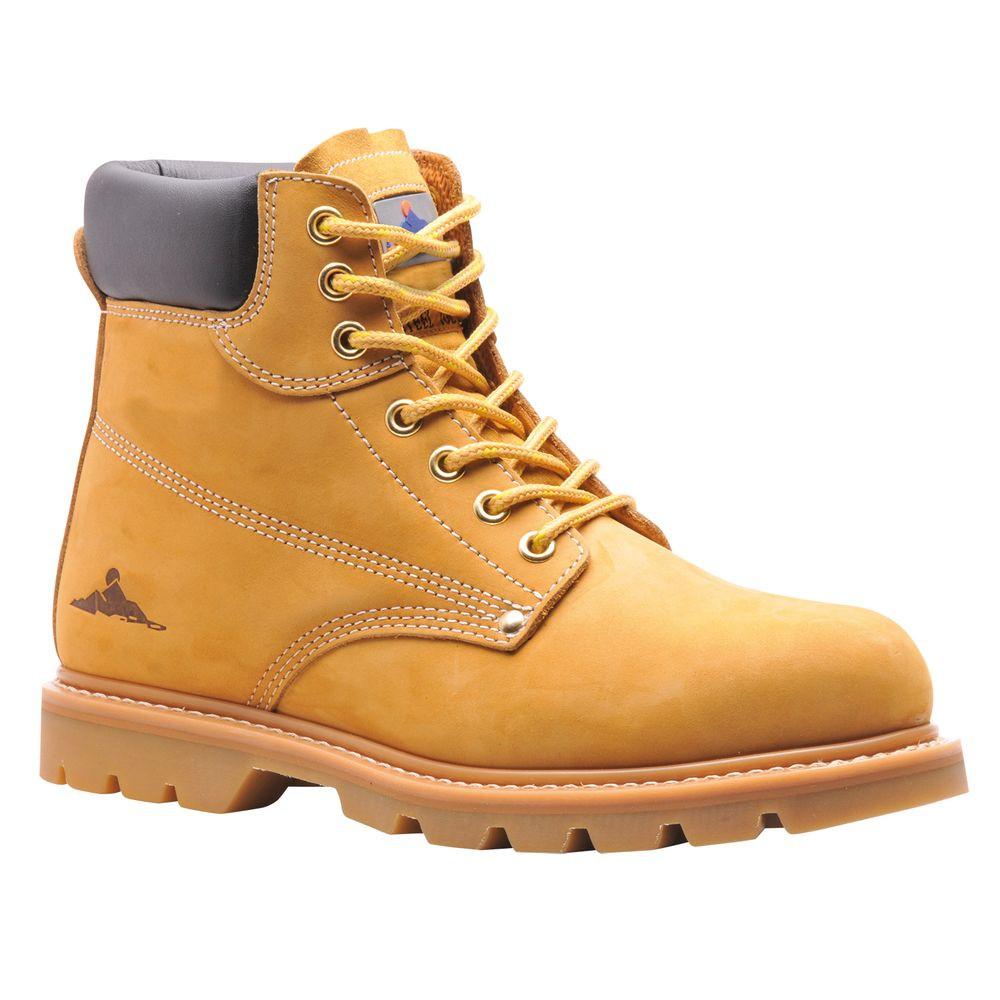 01809811224c1a Chaussures de sécurité montantes Brodequin Cousu Flexi-Welt SB HRO - Miel  ...