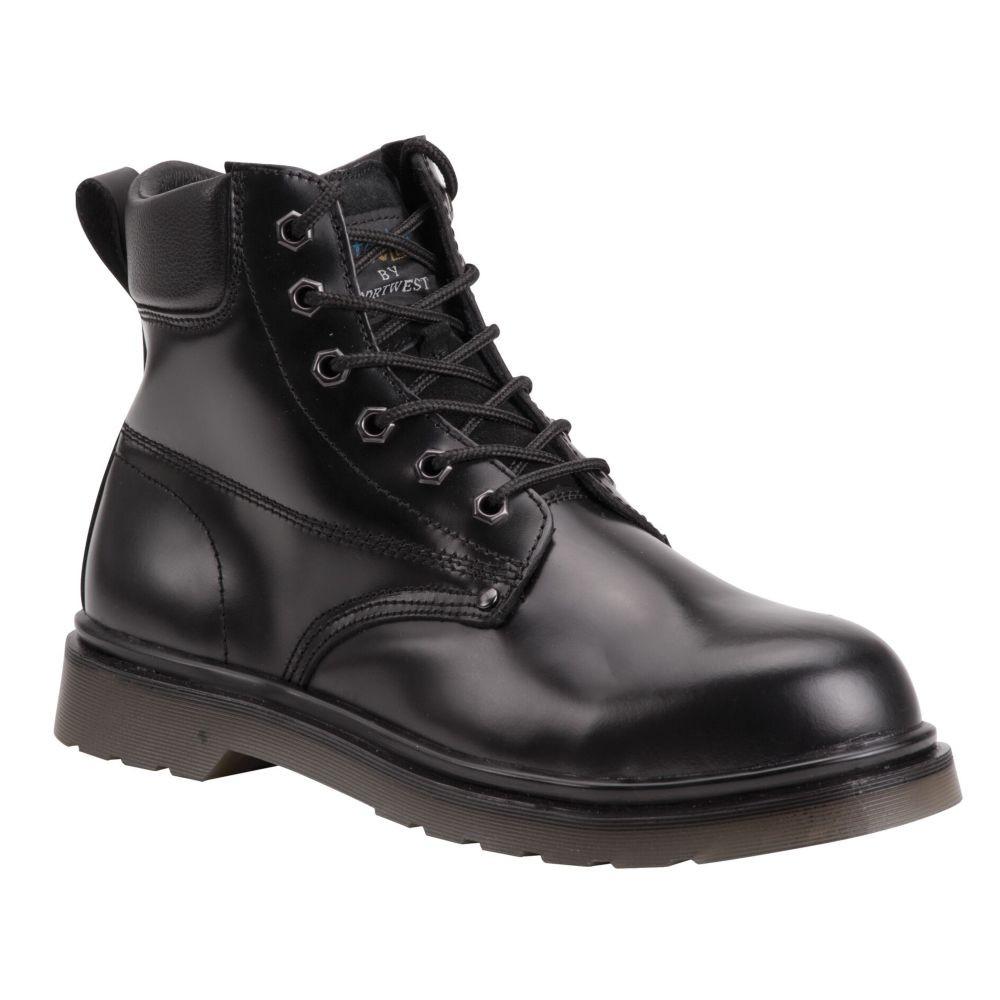 Chaussures de sécurité montantes Brodequin Portwest SB Coussin d'Air - Noir