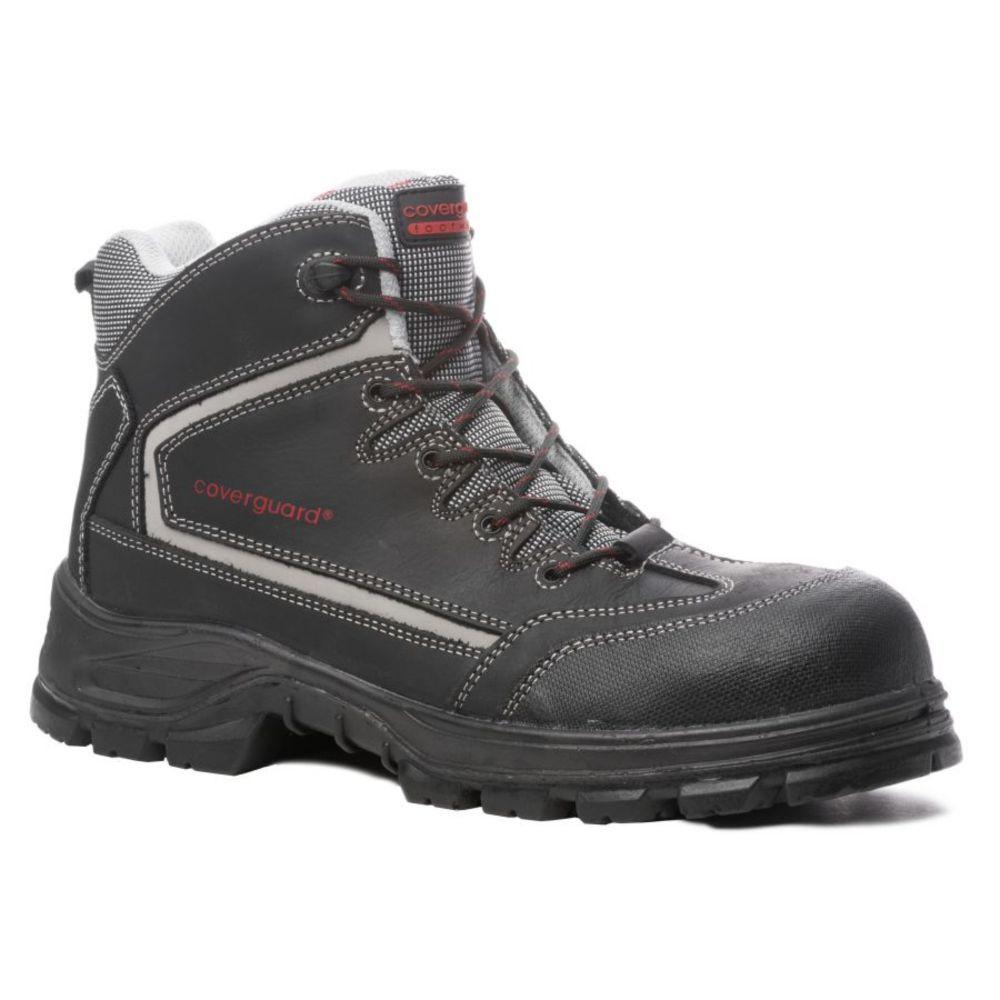 Chaussures de sécurité montantes Coverguard Aragonite S3 SRC 100% non métalliques - Noir