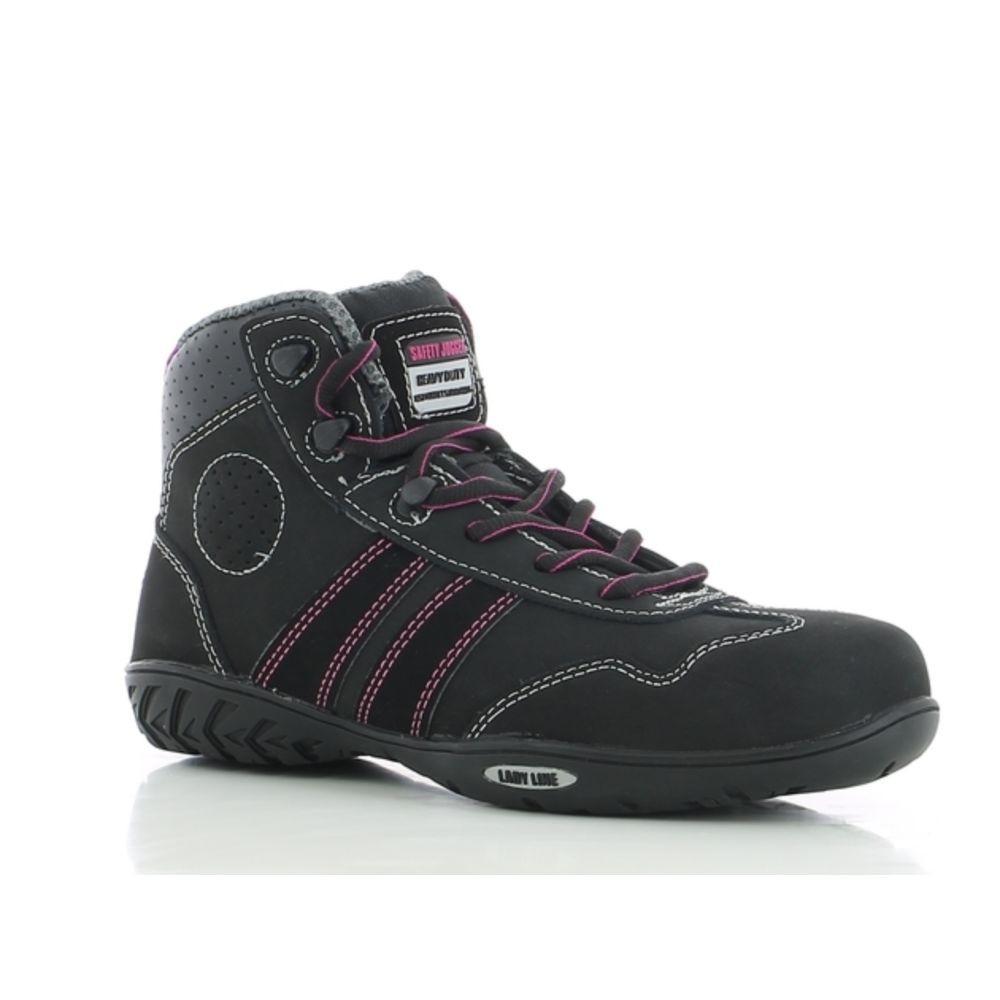 Chaussures de sécurité montantes femme Safety Jogger Isis S3 - Noir / Rose