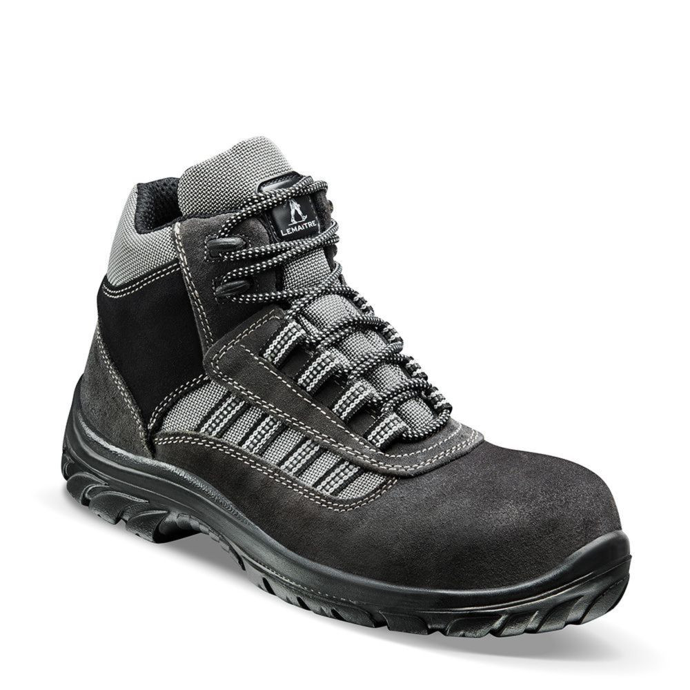 Chaussures de sécurité montantes Lemaitre ATLANTIS S1P CI SRC - Noir / Gris