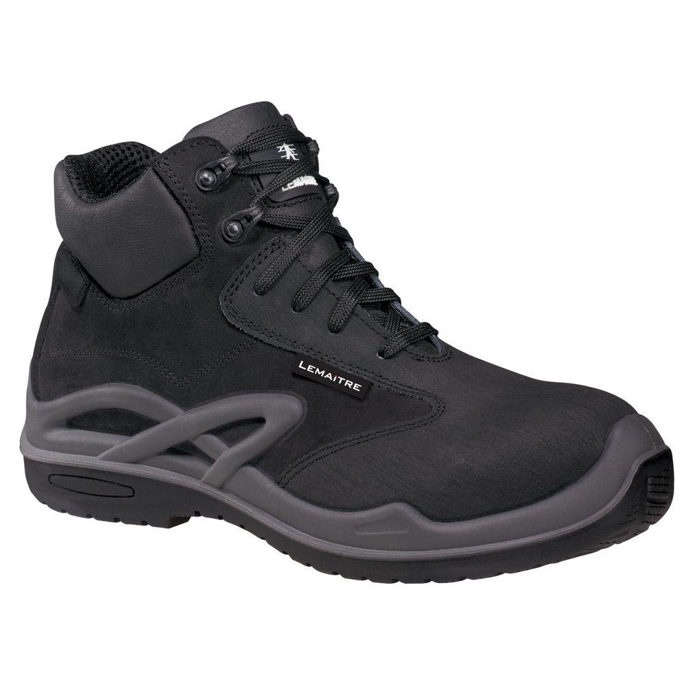 Chaussures de sécurité montantes Lemaitre Roissy S3 CI SRC 100% non métalliques - Chaussures de sécurité montantes Lemaitre Roissy S3 CI SRC Noir