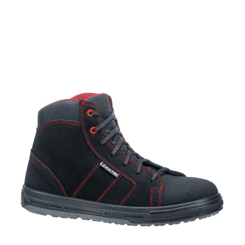 Chaussures de sécurité montantes Lemaitre Solar S3 SRC - Noir / Rouge