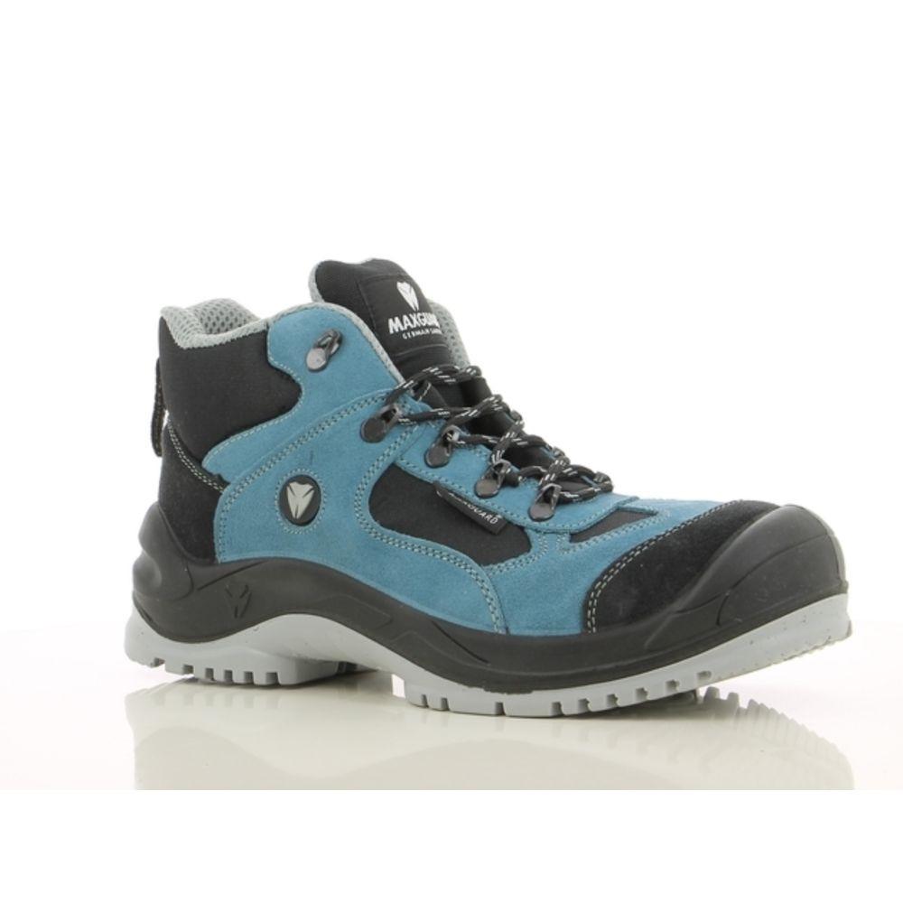 Chaussures de sécurité montantes Maxguard EDDIE E410 S1P SRC - NOIR / BLEU