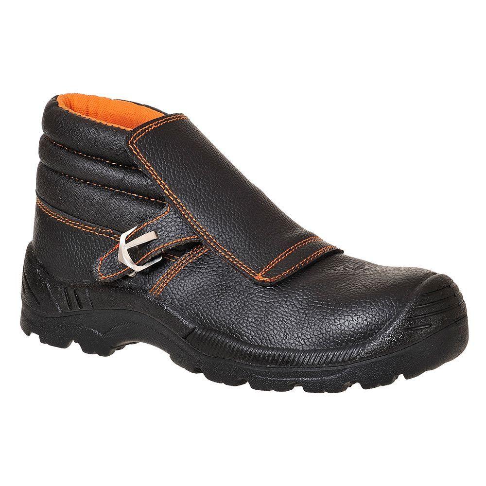Chaussures de sécurité soudeur montantes S3 HRO Brodequin Soudeur Portwest - noir