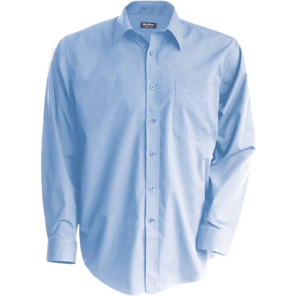 Chemise à manches longues Kariban Jofrey - Bleu Ciel