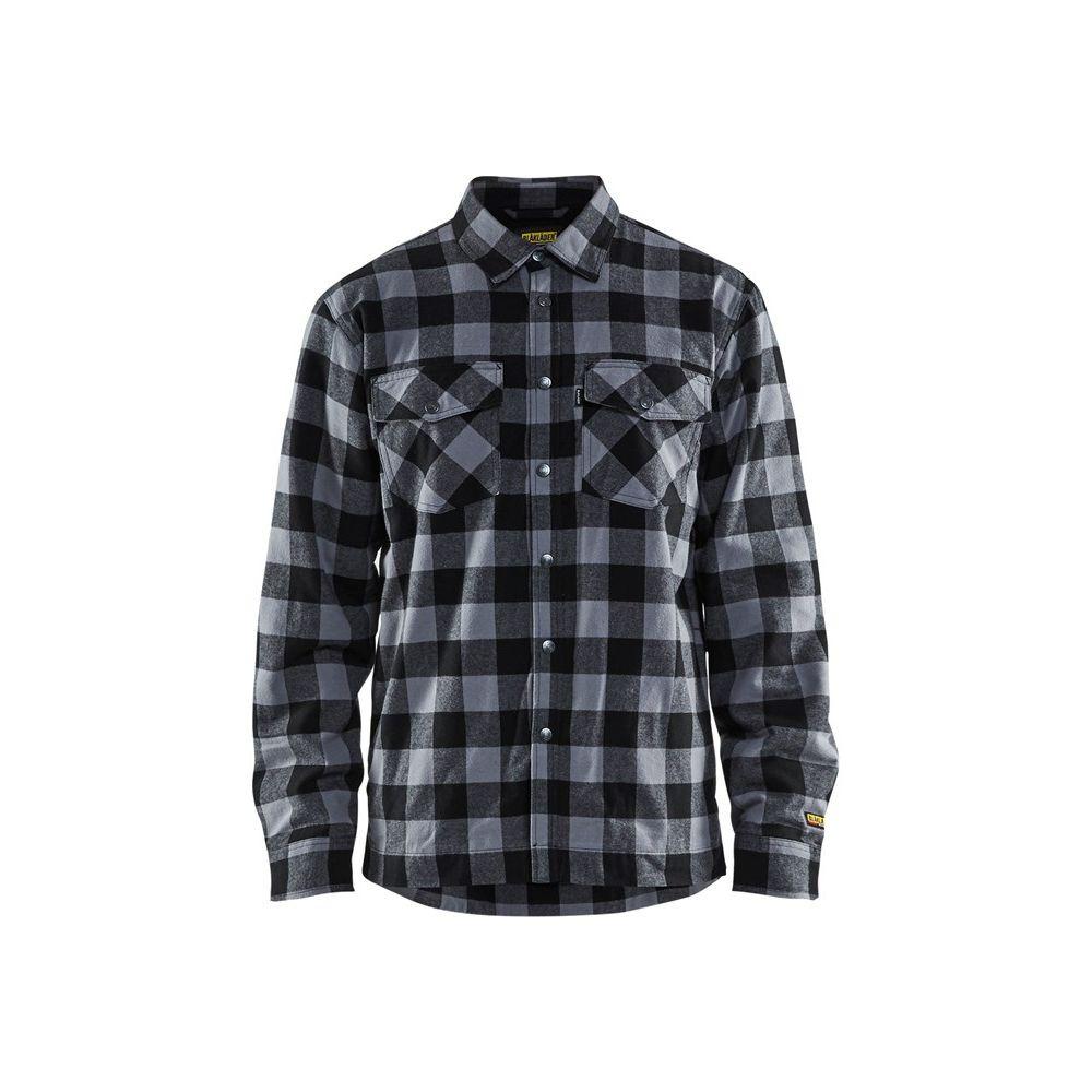 Chemise de travail matelassée Blaklader flannelle doublée - Gris / Noir