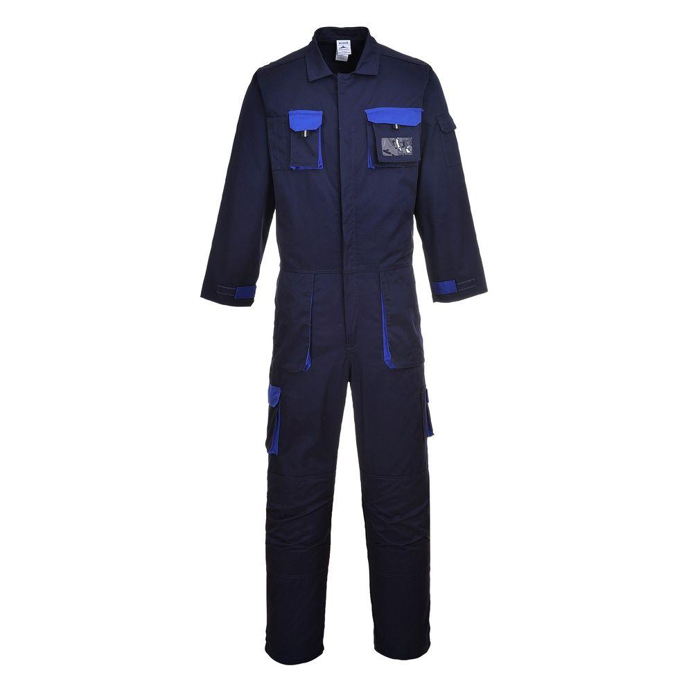 Combinaison de travail Multipoches Portwest CONTRAST TEXO - Bleu Marine / Bleu Royal