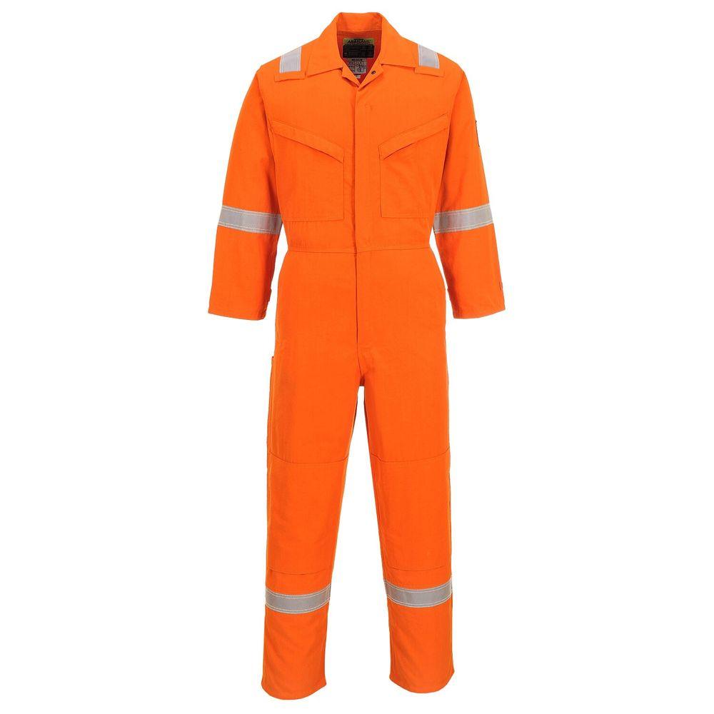 Combinaison de travail multirisques Portwest Araflame - Orange