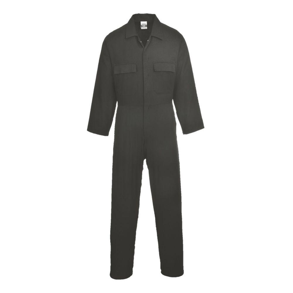 Combinaison de travail 100% coton Portwest EURO WORK - Noir