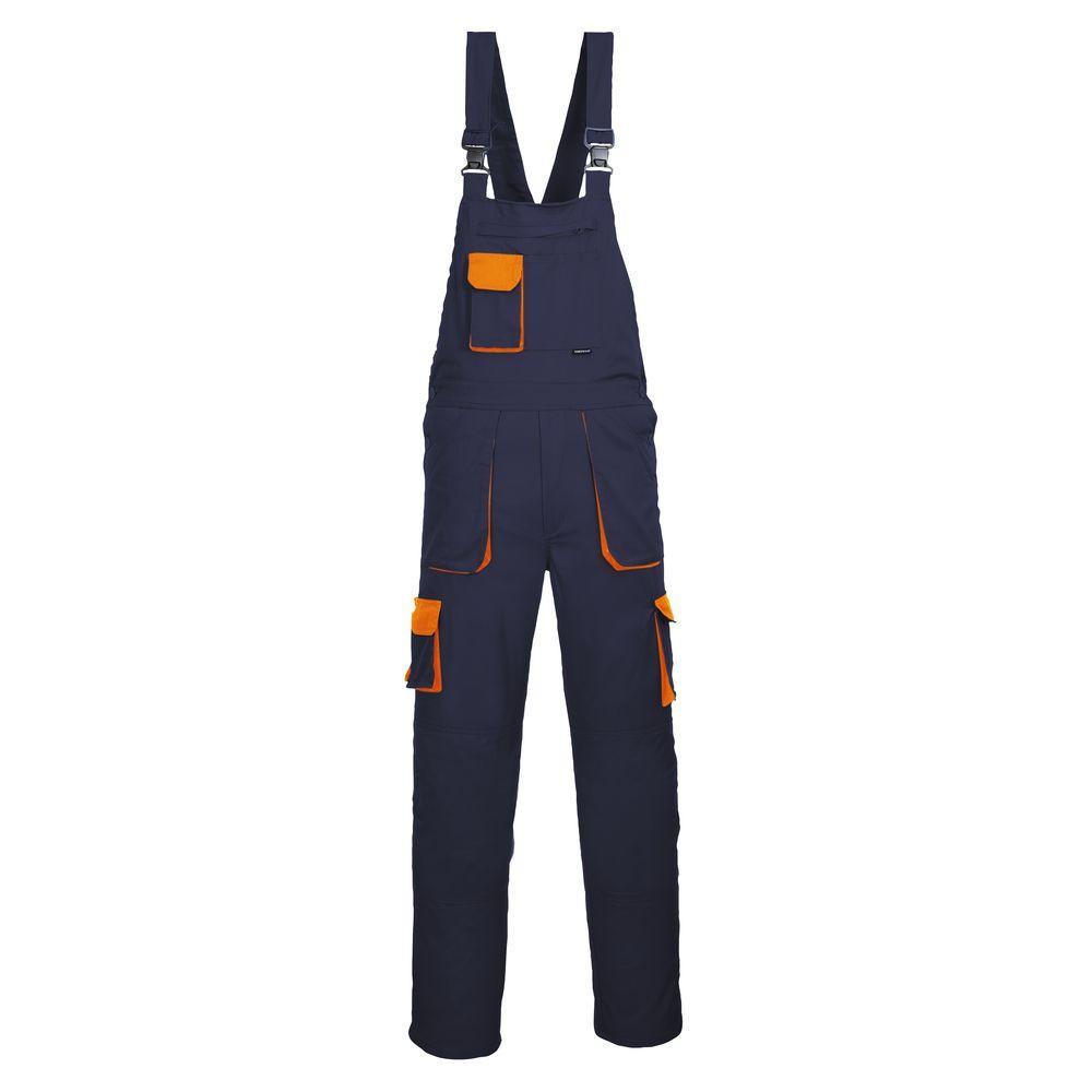 Cotte à bretelles Portwest TEXO CONTRAST - Bleu Marine Poches Oranges
