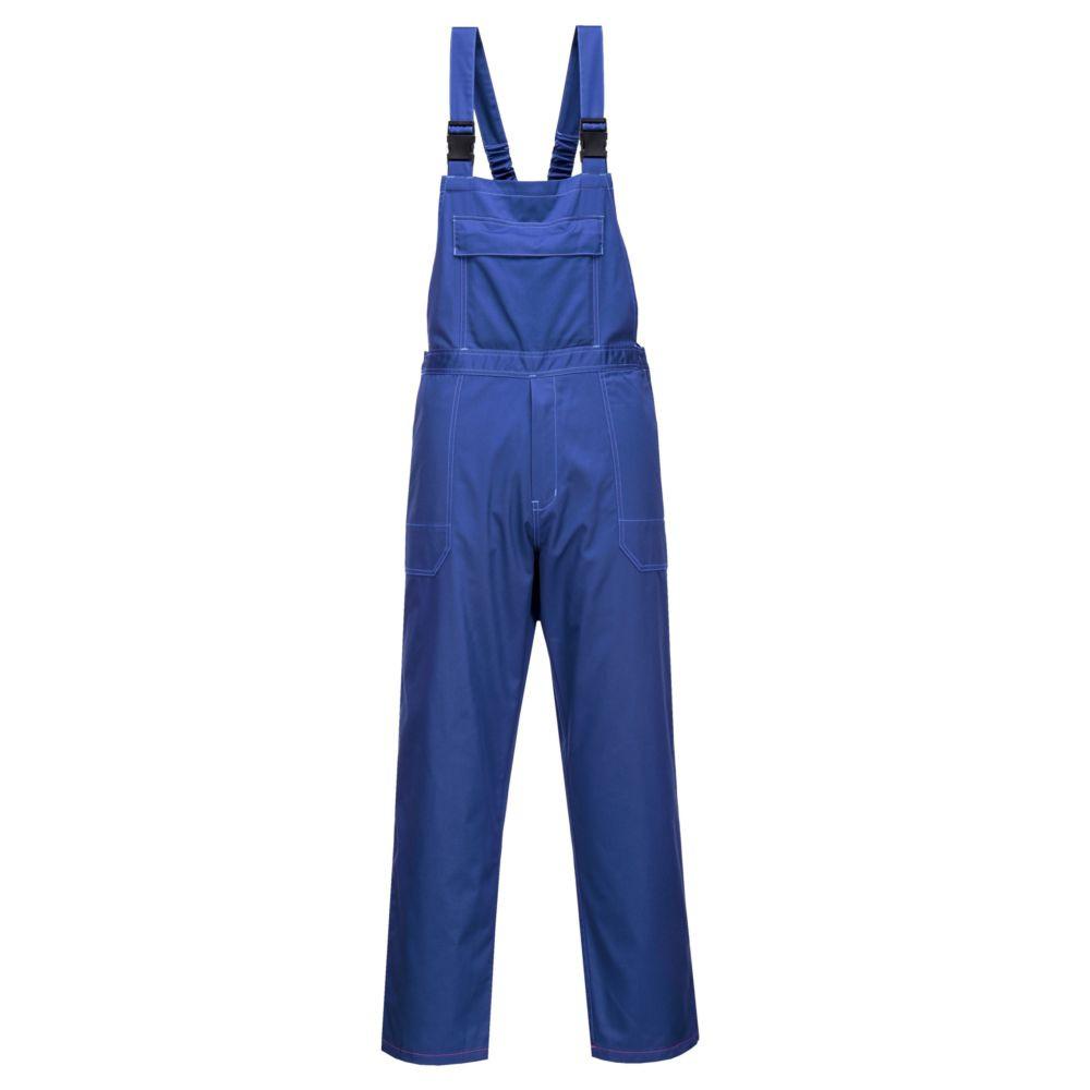 Cotte à bretelles résistante aux produits chimiques Portwest Workwear - Bleu Royal