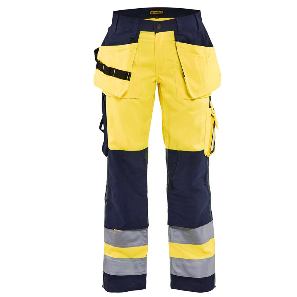 Pantalon de travail haute visibilité femme Blaklader Artisan - Jaune / Marine