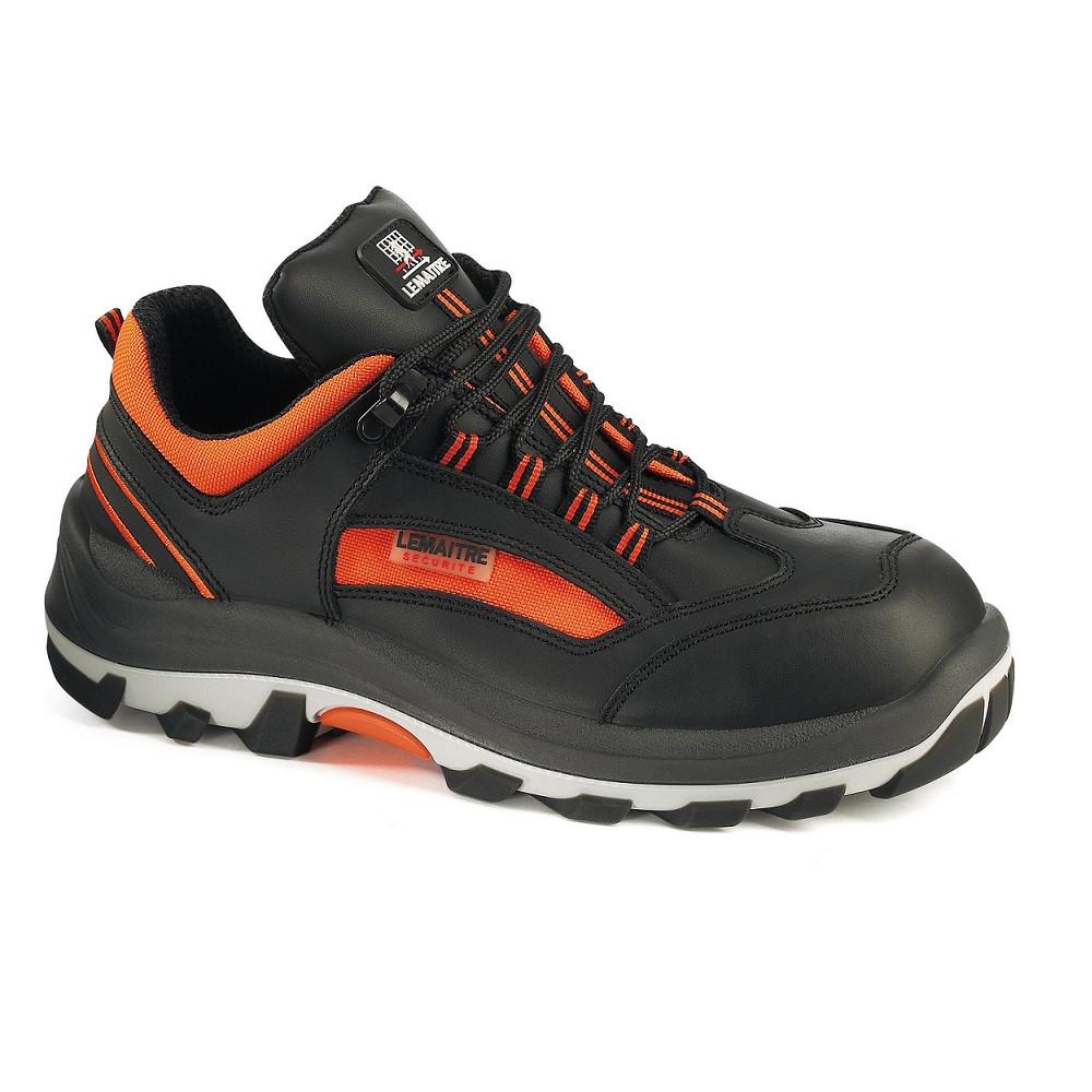Chaussure de sécurité basse Lemaitre MAMBO S3 CI SRC - Noir / Orange