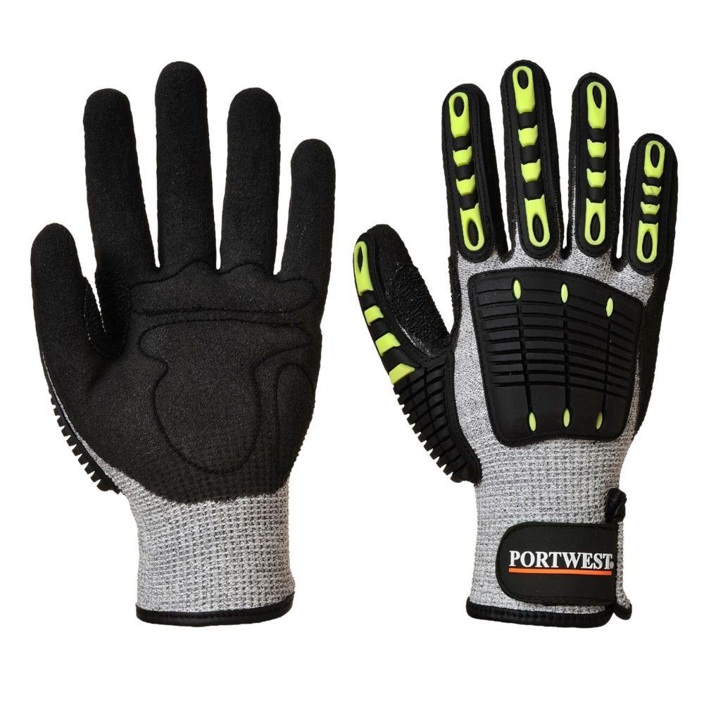 Gants de protection thermique anti-coupure Portwest - Gris / Noir