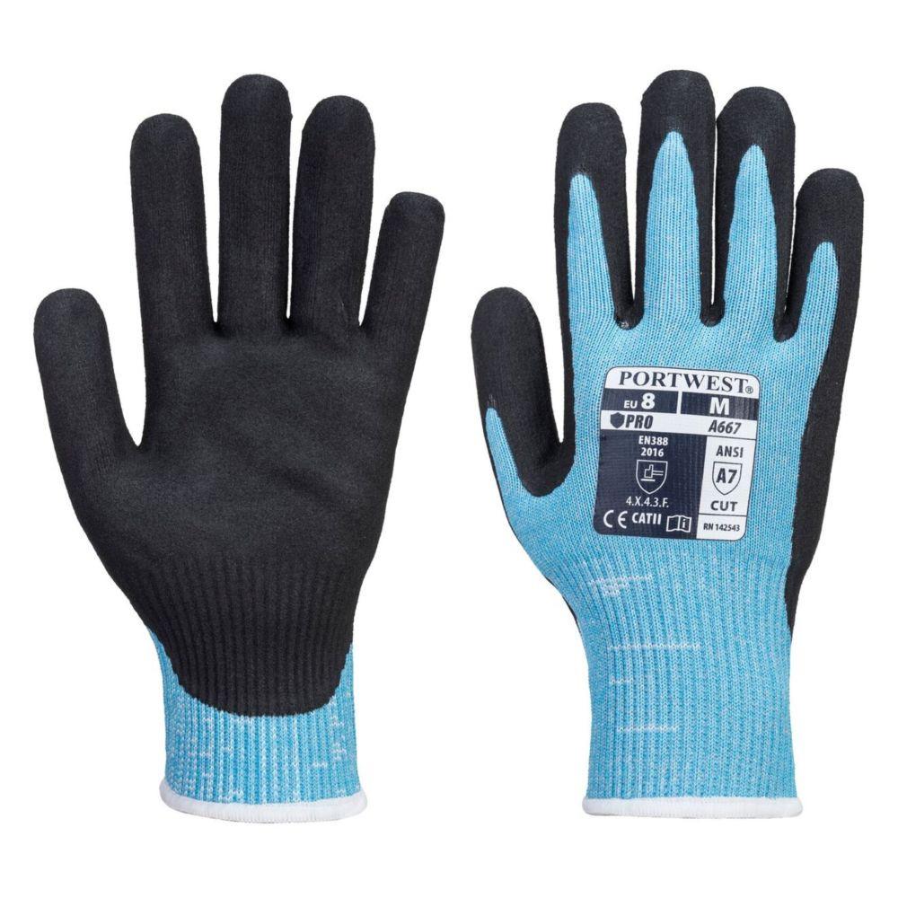 Gants anti-coupure Portwest CLAYMORE AHR - Noir / Bleu