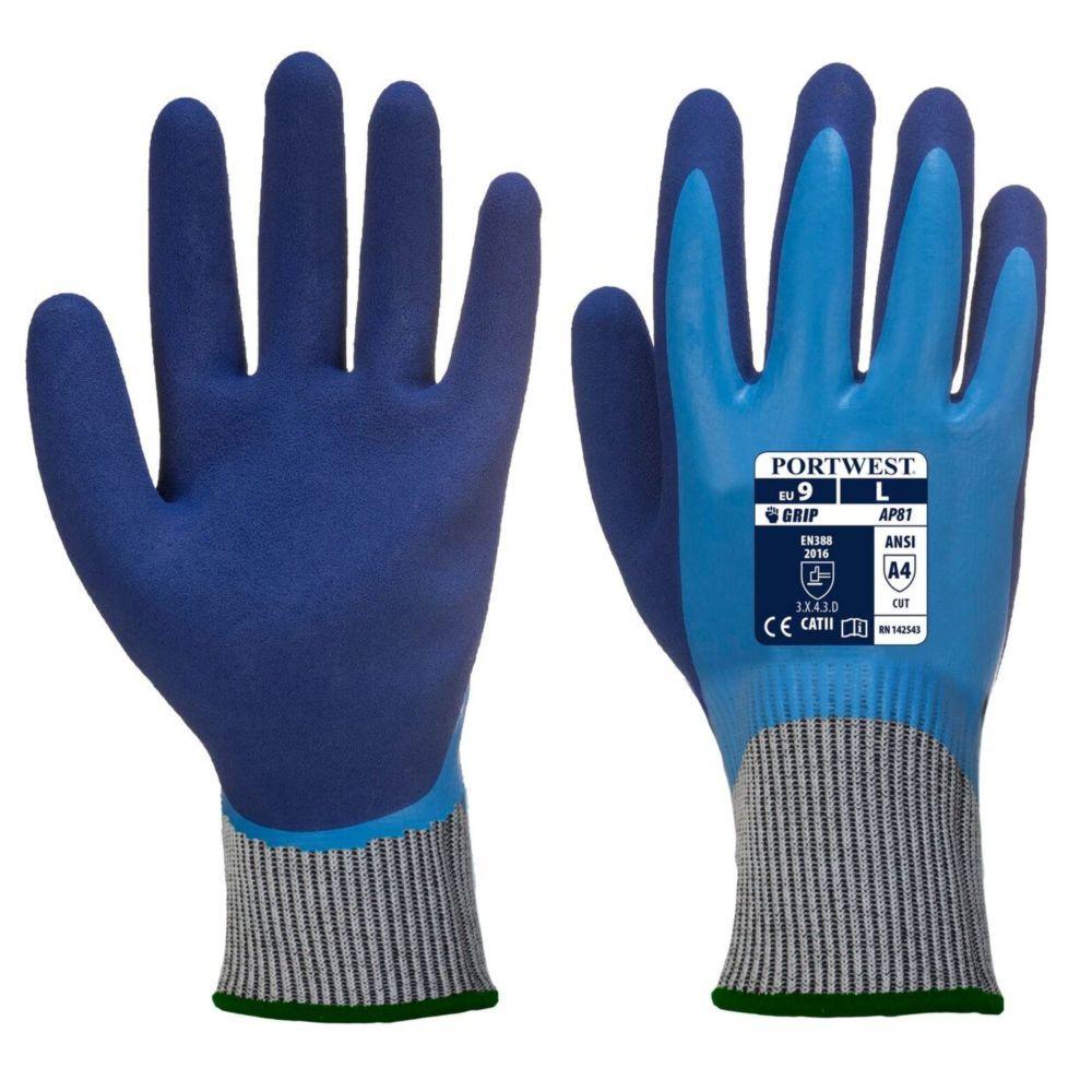 Gants anti-coupure Portwest LIQUID PRO HR CUT - Bleu