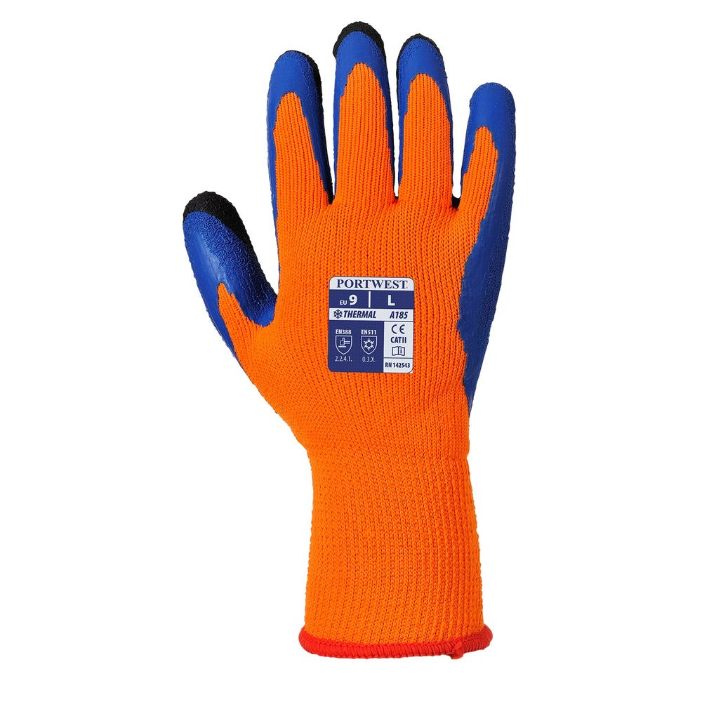 Gants anti-froid Duo-Therm A185 Portwest - Orange / Bleu