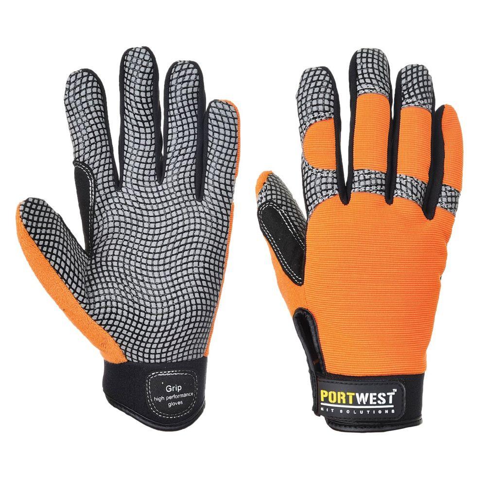Gants anti-impact Portwest Confort Grip A735 - orange