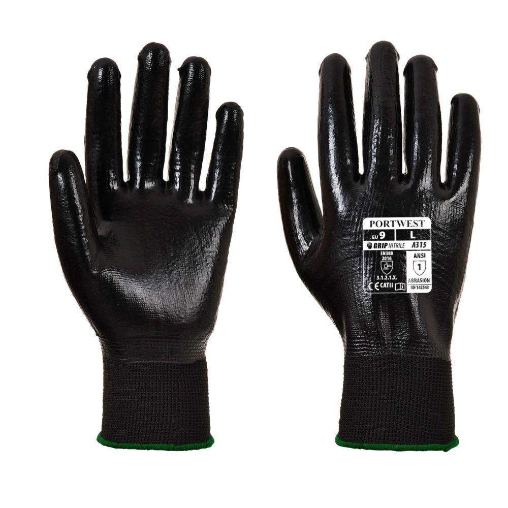 Gants de manutention Portwest ALL-FLEX GRIP - Noir Noir