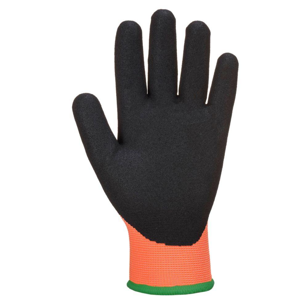 Gants de protection hydrophobes thermiques Portwest Thermo Pro Ultra - Orange / Noir