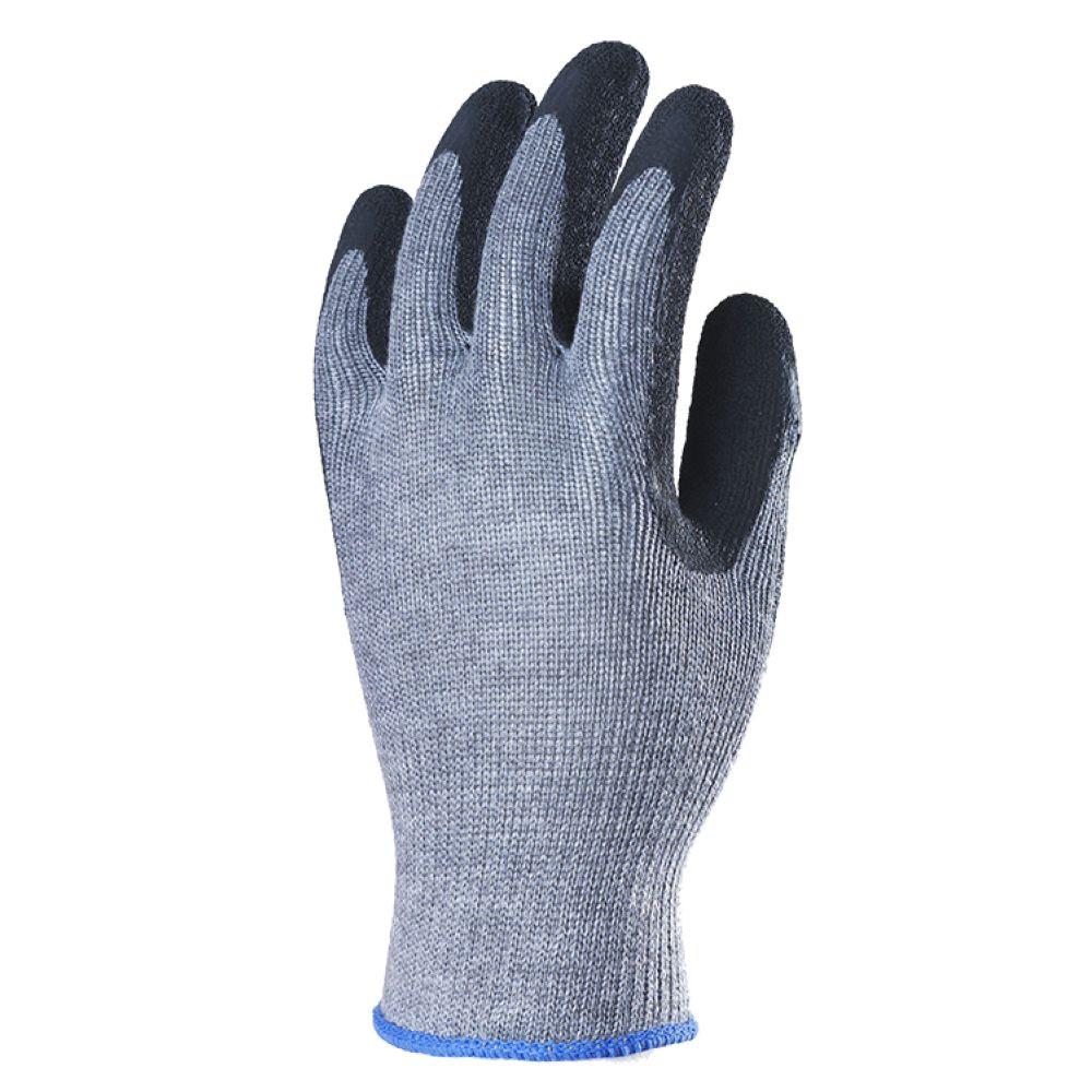 Gants de manutention Lourde enduit Latex Eurotechnique 1LAAG (lot de12 paires de gants) - Gris
