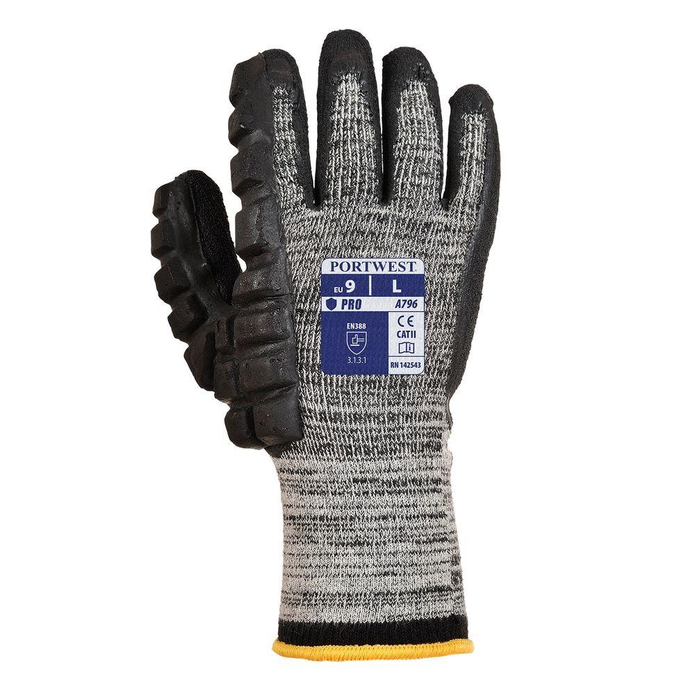 Gants protection Marteau gauche Portwest - Noir