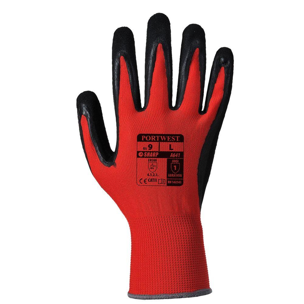 Gants Red Cut 1 A641 Portwest - Rouge / Noir