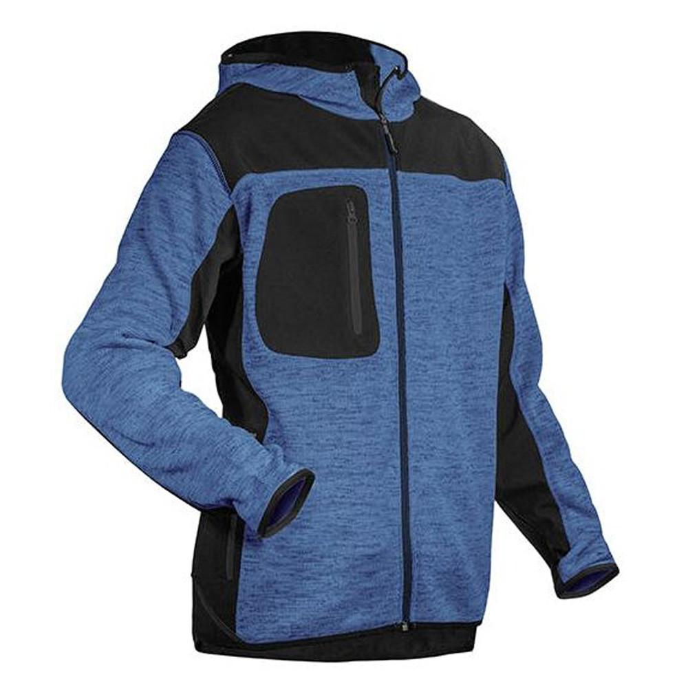 Veste softshell tricot Coverguard Bora Sweater - Bleu Poches Noires