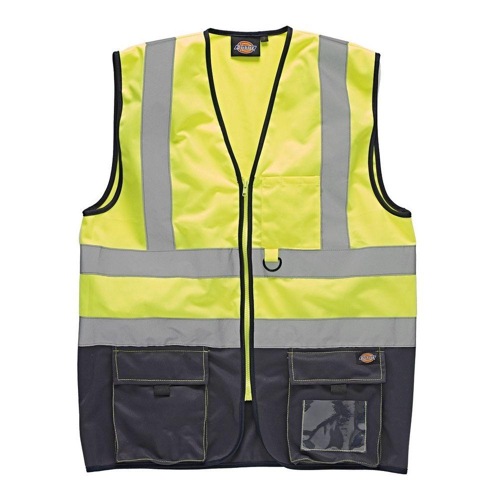 Gilet jaune de sécurité haute visibilité Bicolore Dickies - Jaune