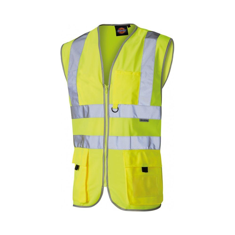 Gilet jaune de sécurité haute visibilité Dickies Technique - Jaune Fluo