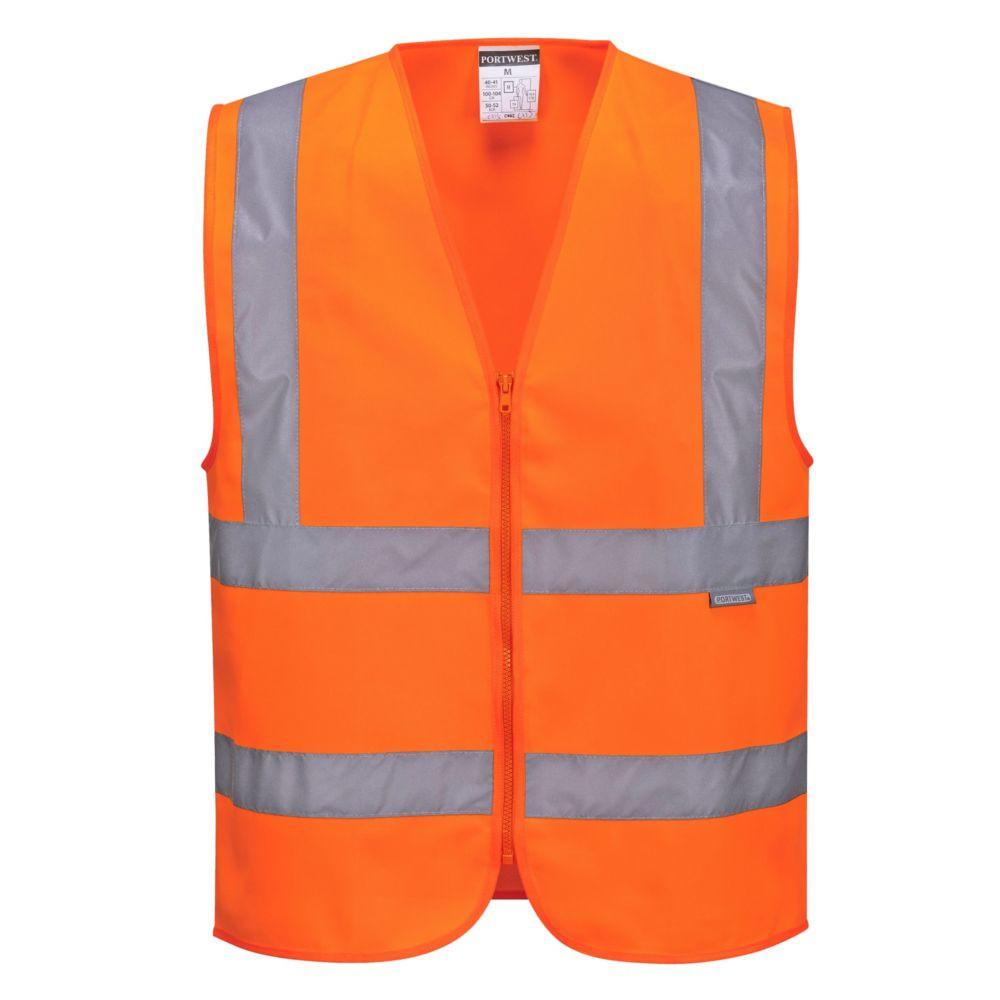 Gilet haute visibilité zippé Portwest Classe 2 - Orange