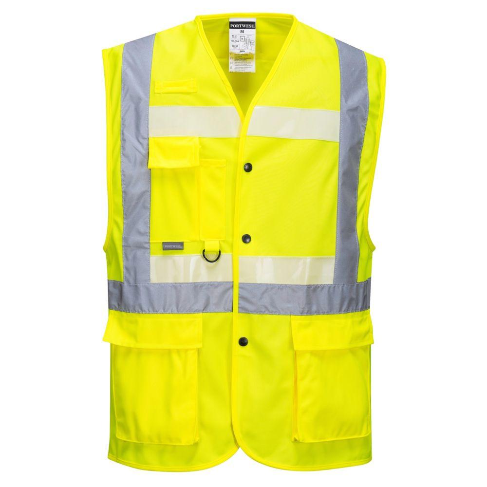 Gilet jaune haute visibilité exécutif Portwest Glowtex - Jaune