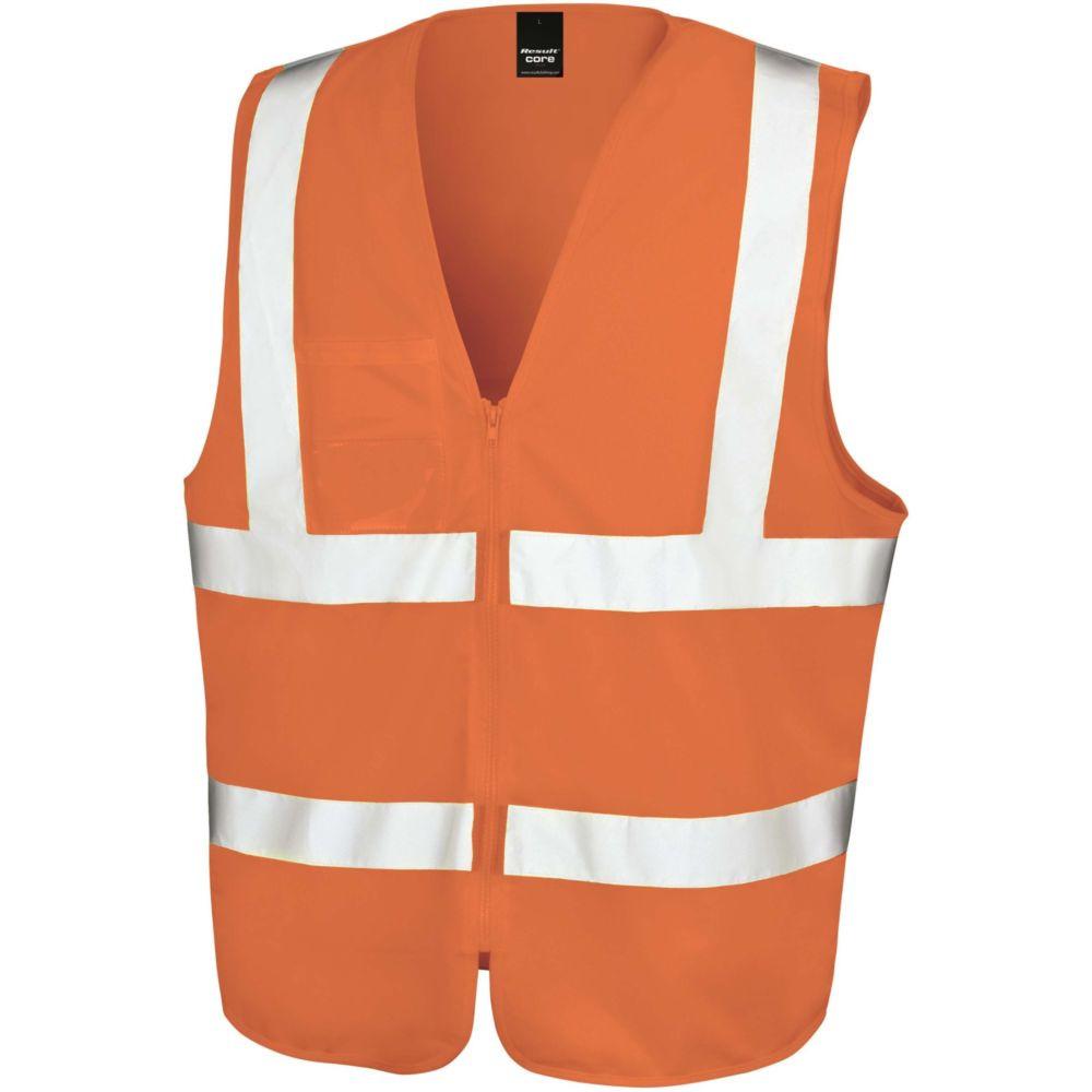 Gilet haute visibilité Result zippé - Orange Fluo