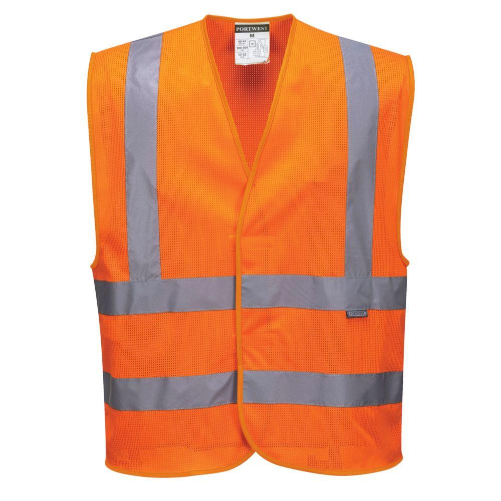 Gilet haute visibilité respirant Portwest HV Meshair - Orange