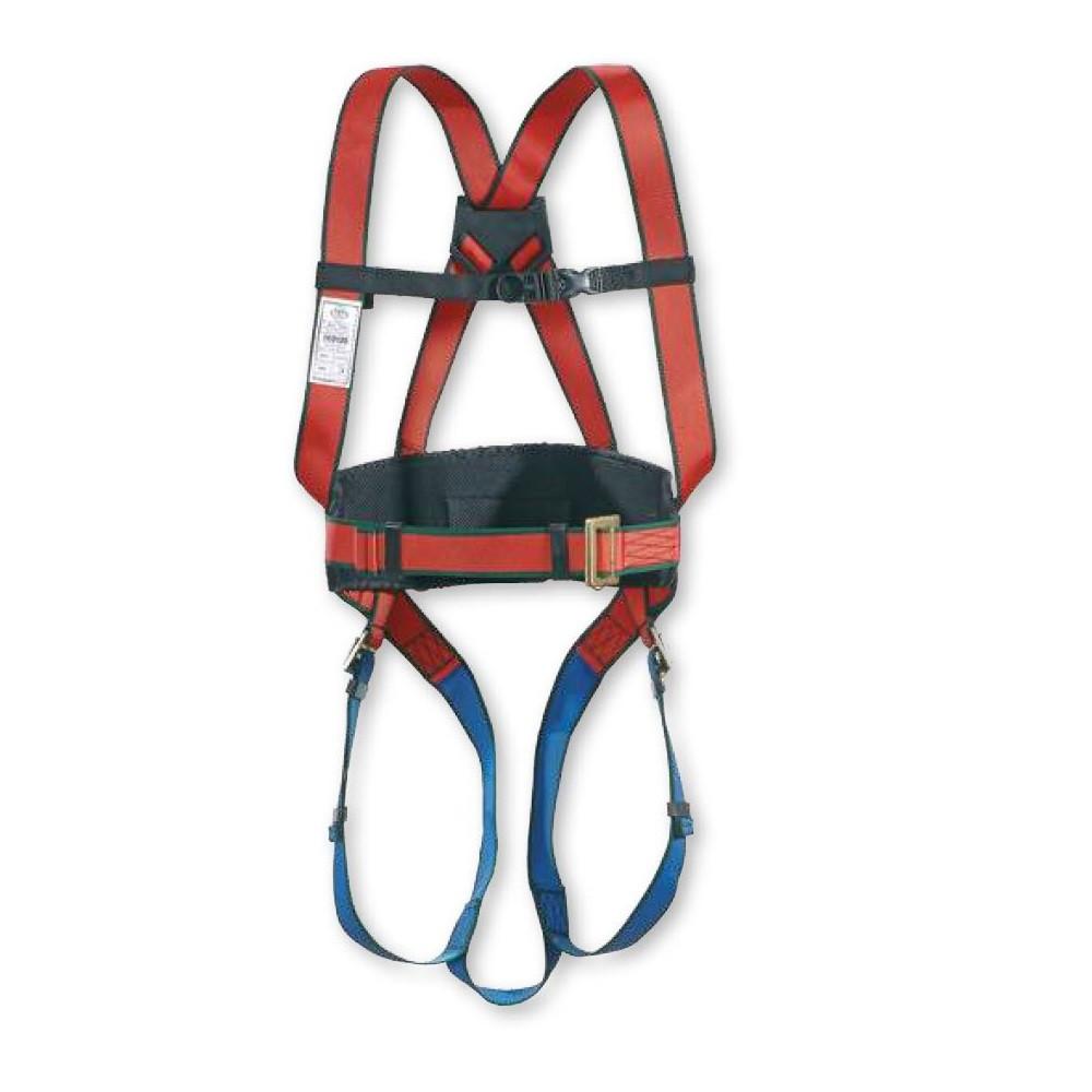 Harnais complet avec ceinture de maintien et sous-fessière Toplock - Rouge