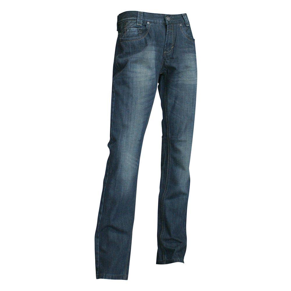 Jeans de travail Stretech 5 poches LMA Goudron - Jeans de travail 5 poches LMA Goudron denim bleu foncé