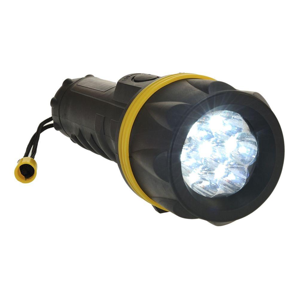 Lampe torche caoutchouc Portwest 7 LED - Jaune / Noir