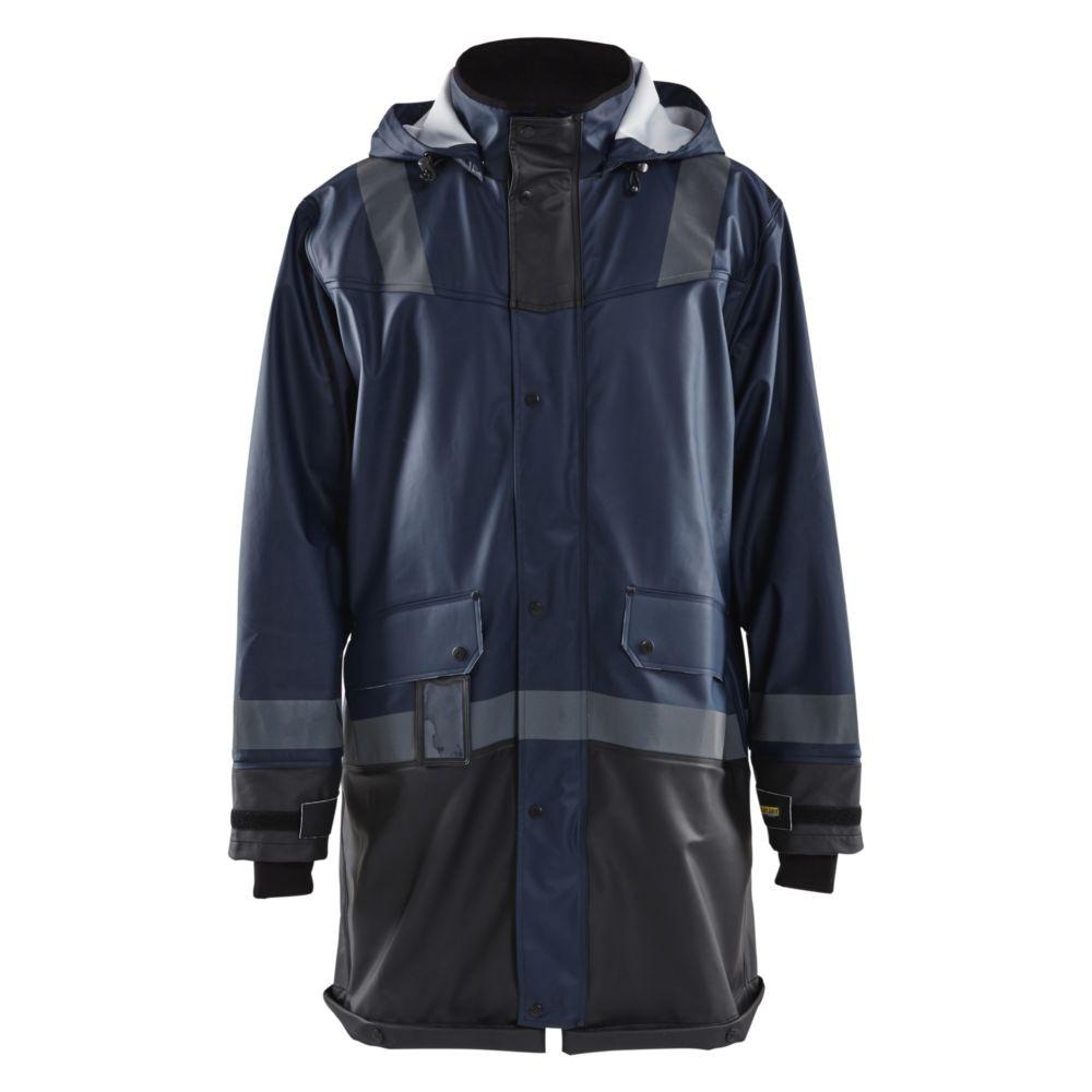 Manteau de pluie étanche bicolore Blaklader NIVEAU 2 - Marine foncé / Noir