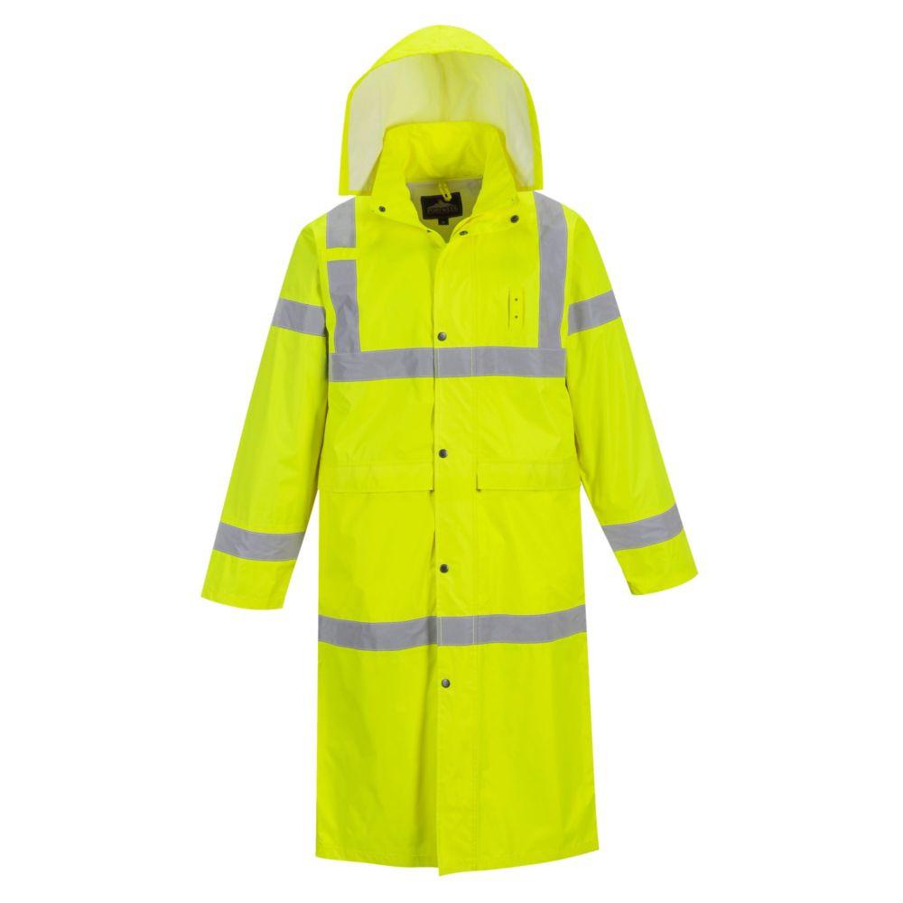 Manteau de pluie haute visibilité Portwest 122cm - Jaune