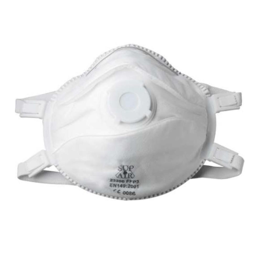 Masque respiratoire coque avec valve Sup Air FFP3 NR SL (lot de 5 masques) 7ded3d065fbb