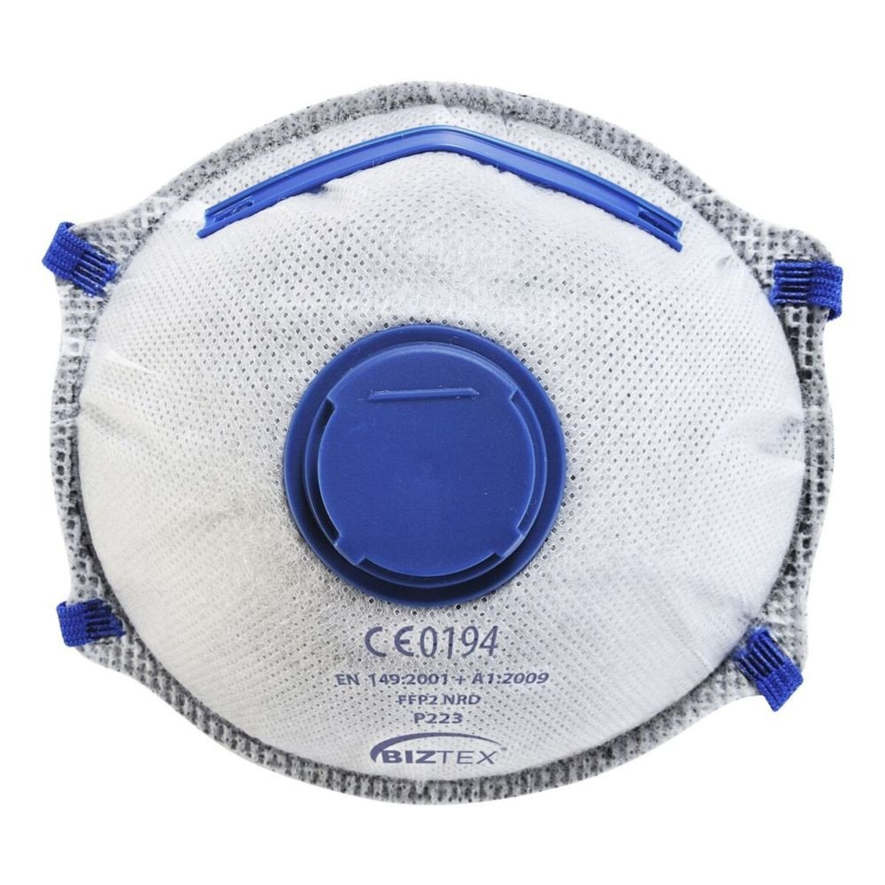 Masque respiratoire à valve charbon actif Portwest FFP2 NR D DOLOMITE (boite de 10 masques) - Blanc