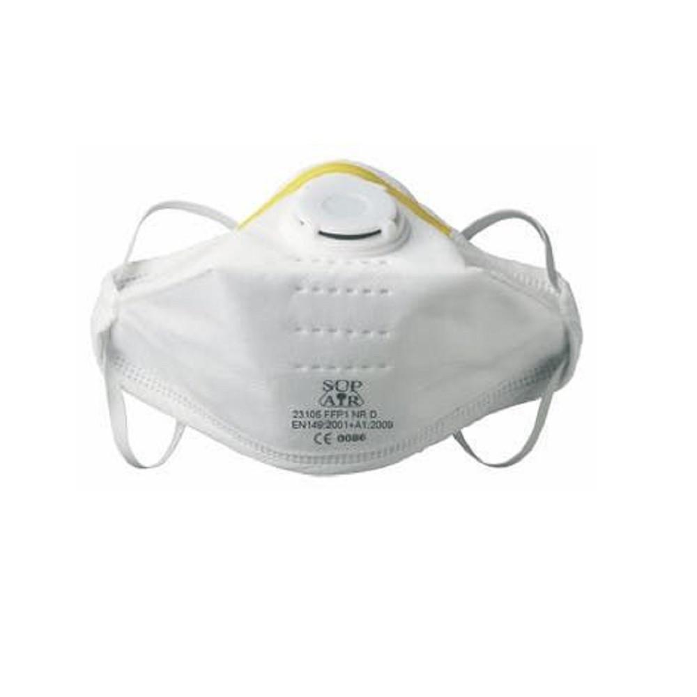 Masque respiratoire pliable à usage unique avec valve Sup Air FFP1 D SL  (boîte de 20 masques) 9c49a061db9c