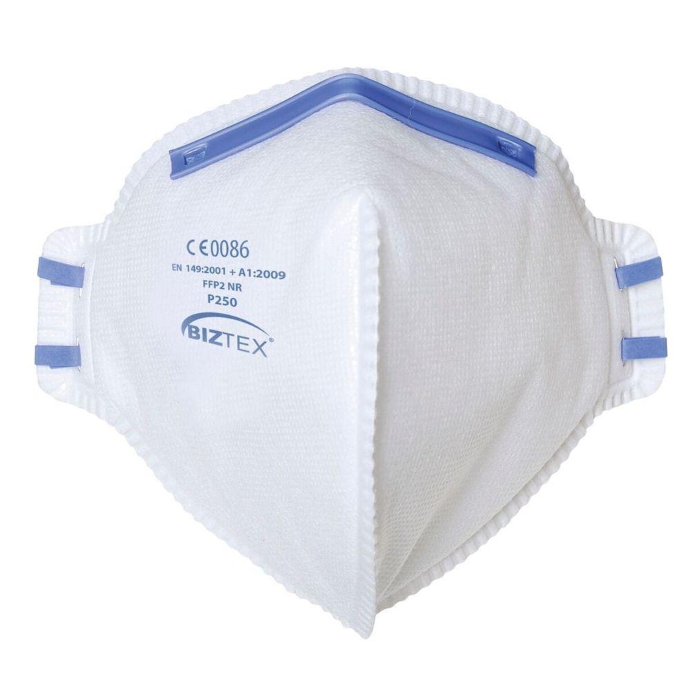 Masque respiratoire pliable Portwest FFP2 NR (boite de 20 masques) - Blanc
