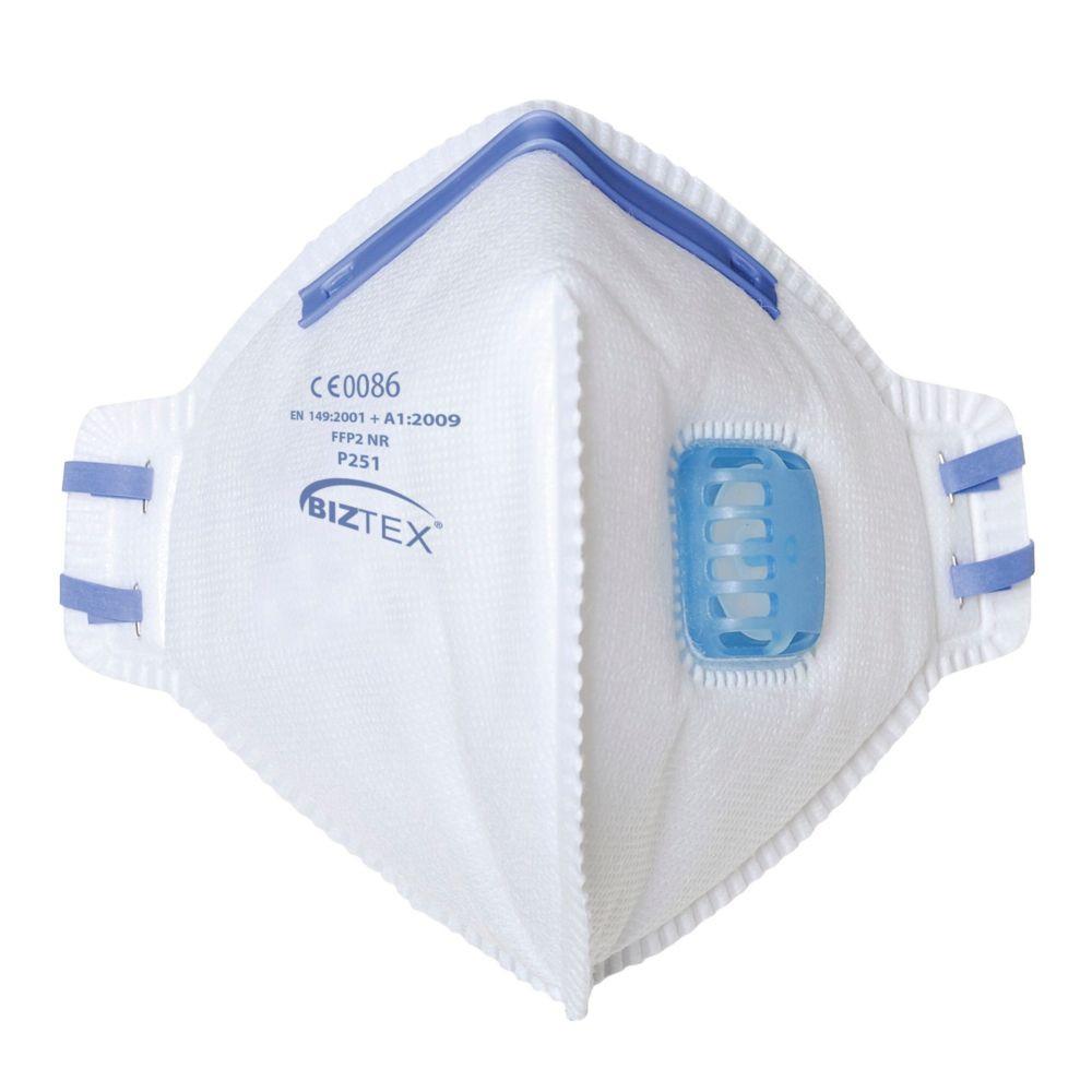 Masque respiratoire pliable à valve Portwest FFP2 NR (boite de 20 masques) - Blanc
