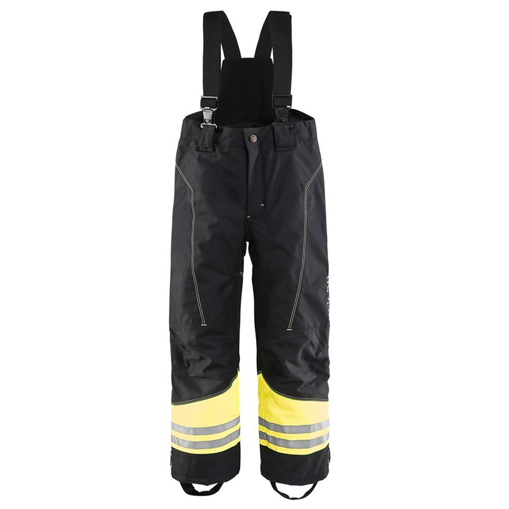Pantalon à bretelles hiver enfant Blaklader bandes réflechissantes - Noir / Jaune