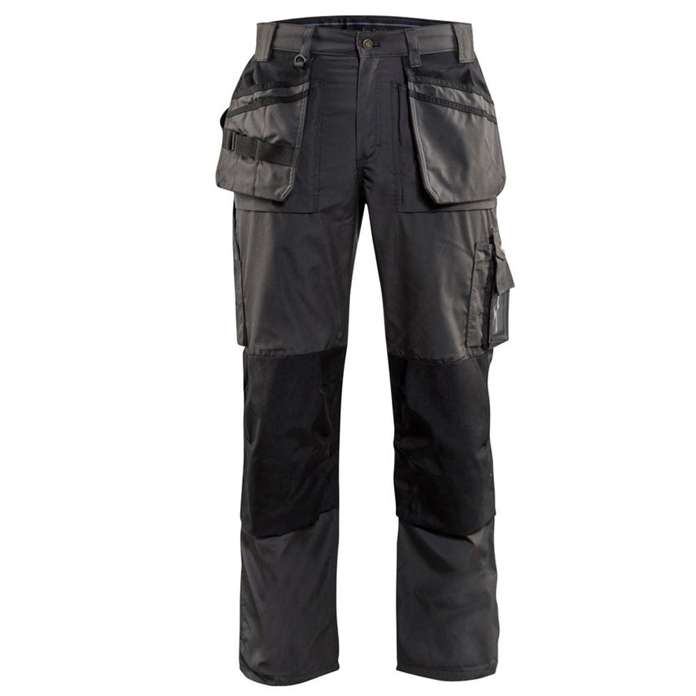 Pantalon de travail Blaklader artisan été polycoton - Gris Foncé / Noir