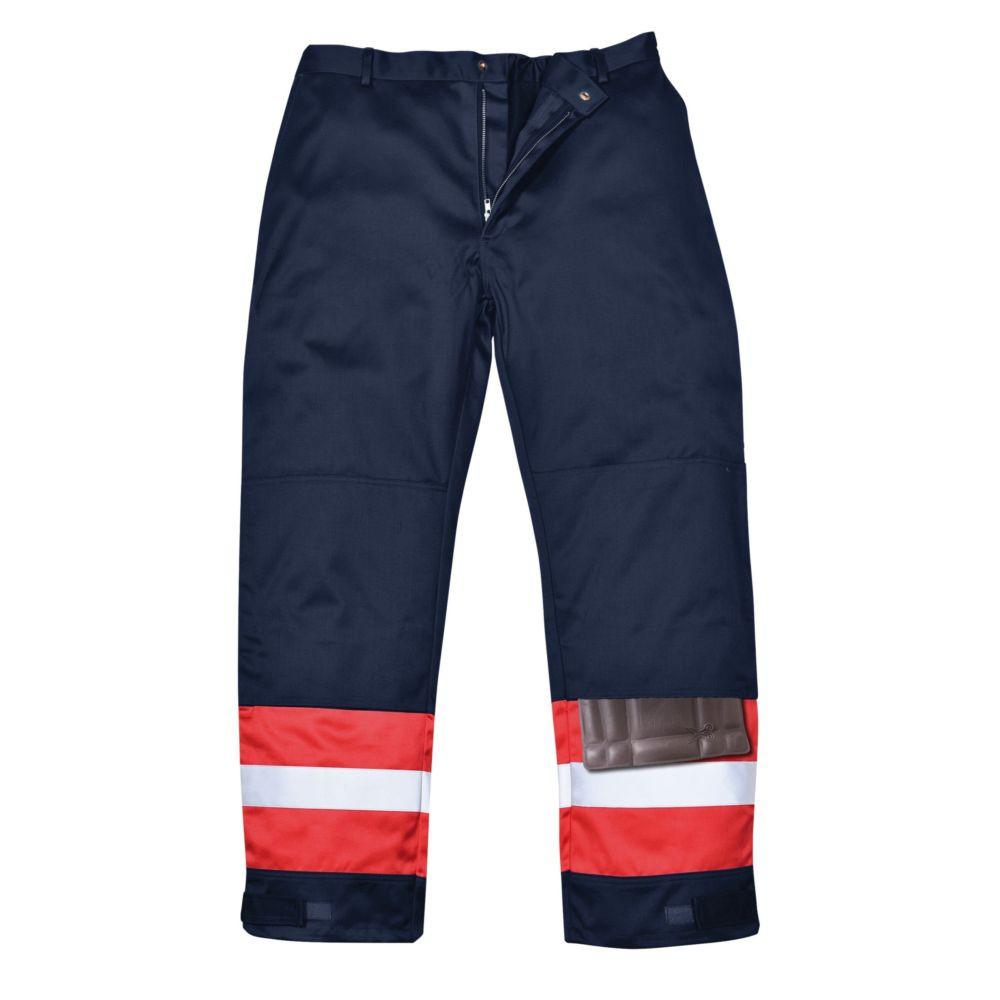 Pantalon ignifugé bicolore antistatique Portwest Bizweld - Marine